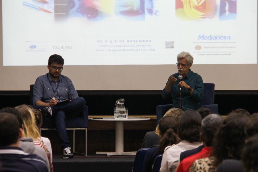 """Professhor Pacheco: """"aprendizagem é doação. E somente pode haver aprendizagem quando existe vínculo"""". Foto: Paulinha Kozlowski."""