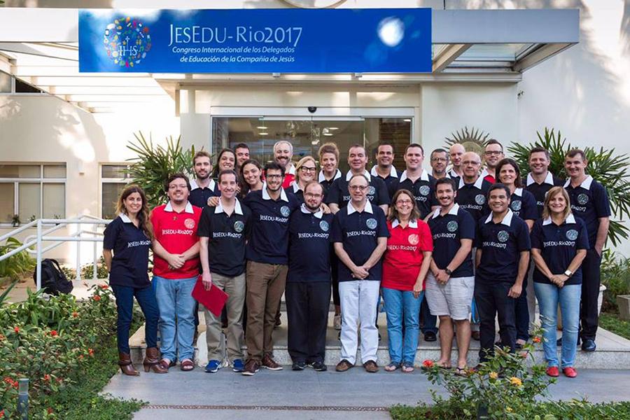 O JESEDU foi organizado pela RJE-BRA epla FLACSi, reunindo mais de 60 Delegados de todo o mundo. Foto: Divulgação.