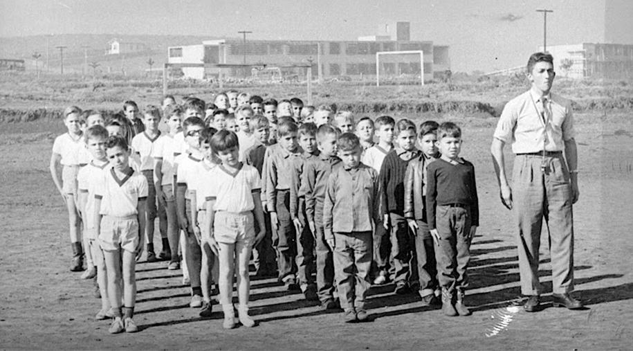 Estudantes no fim da década de 50.