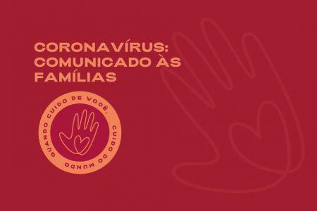 CORONAVÍRUS - Comunicado da Direção