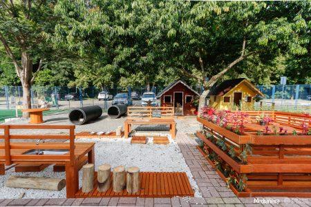 Colégio promove remodelação do parque do Medianeirinha